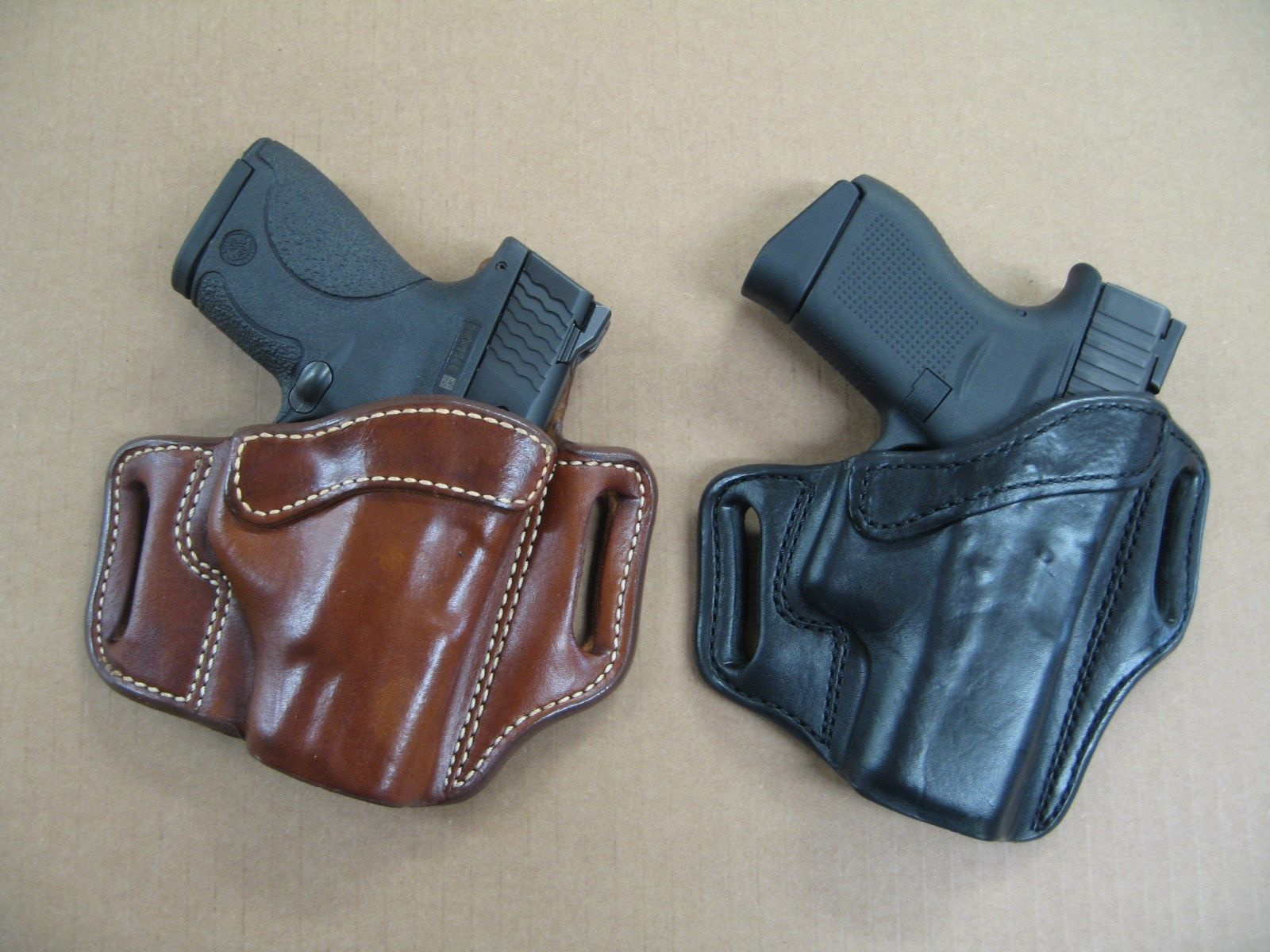 """OWB Leather 2 Slot Molded Pancake Belt Holster For Springfield Armory 1911 5/"""" B"""