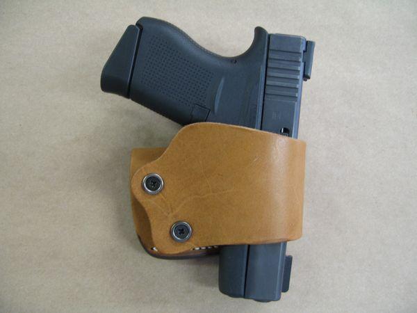 Universal Leather Belt Slide Holster