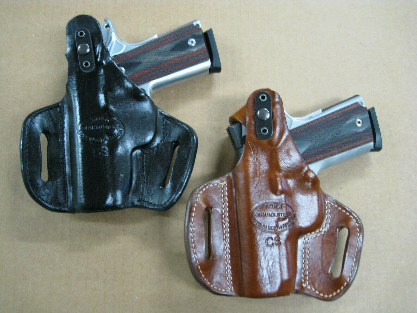 2 Slot Thumb Break Pancake Belt Holster