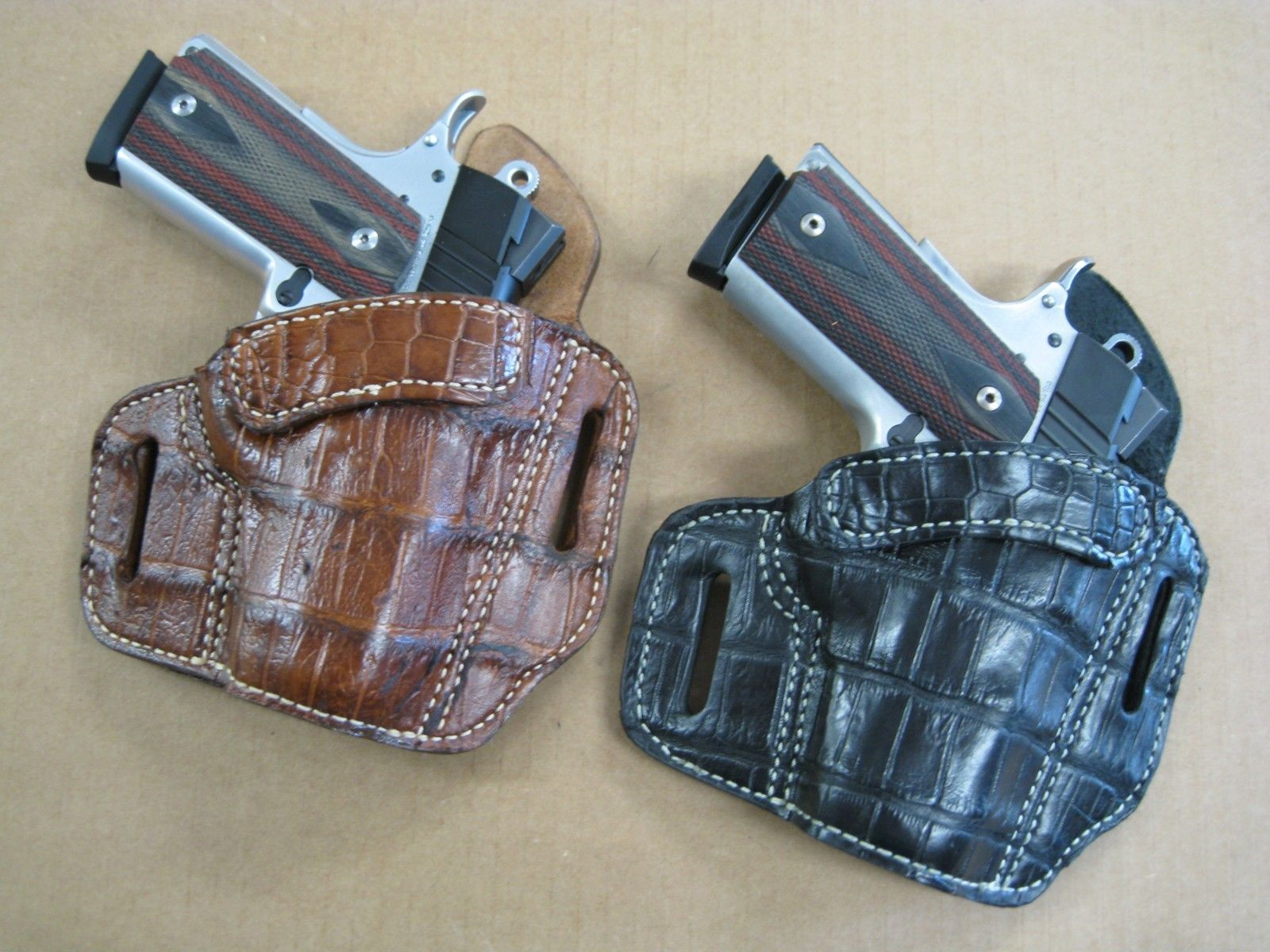 OWB Alligator 2 Slot Pancake Belt Holster