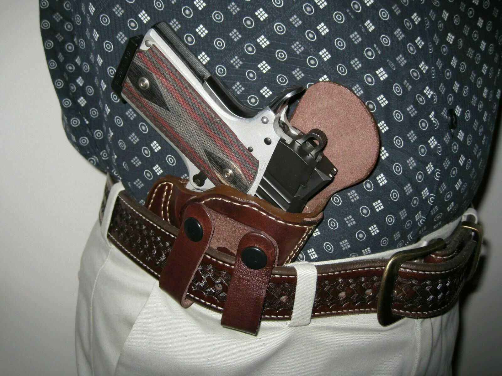 Belt Loop High Ride In The Waistband IWB Premium Leather Holster